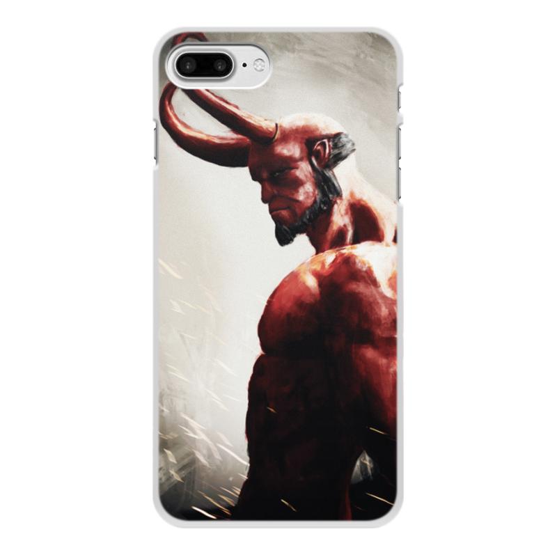 Чехол для iPhone 8 Plus, объёмная печать Printio Hellboy цена и фото
