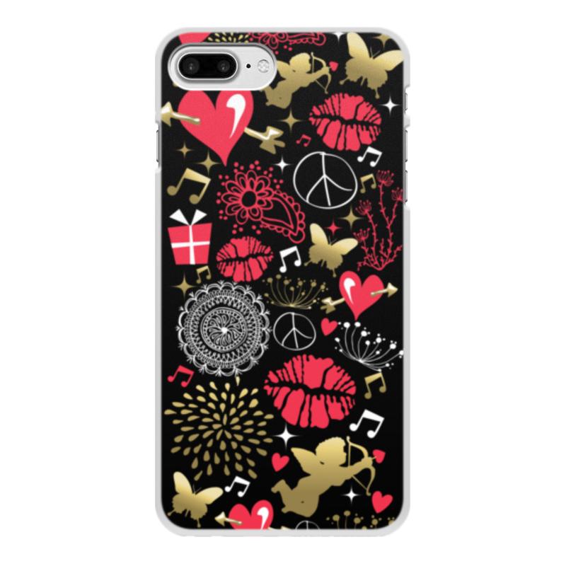 Чехол для iPhone 8 Plus, объёмная печать Printio Валентинка цена и фото