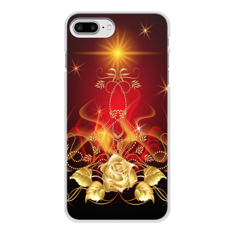 Чехол для iPhone 8 Plus, объёмная печать Printio Золотая роза чехол для iphone 8 объёмная печать printio гвоздика лилия лилия роза джон сарджент