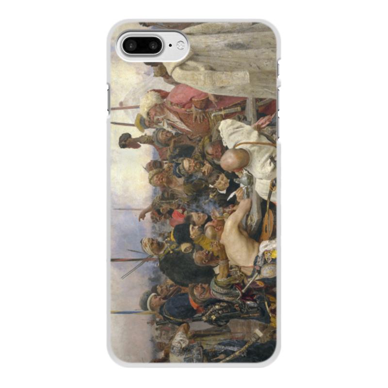 лучшая цена Чехол для iPhone 8 Plus, объёмная печать Printio Запорожцы (картина репина)