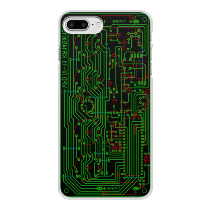 Чехол для iPhone 8 Plus, объёмная печать Printio Печатная плата eurostil расческа для женской стрижки разделительная 00113