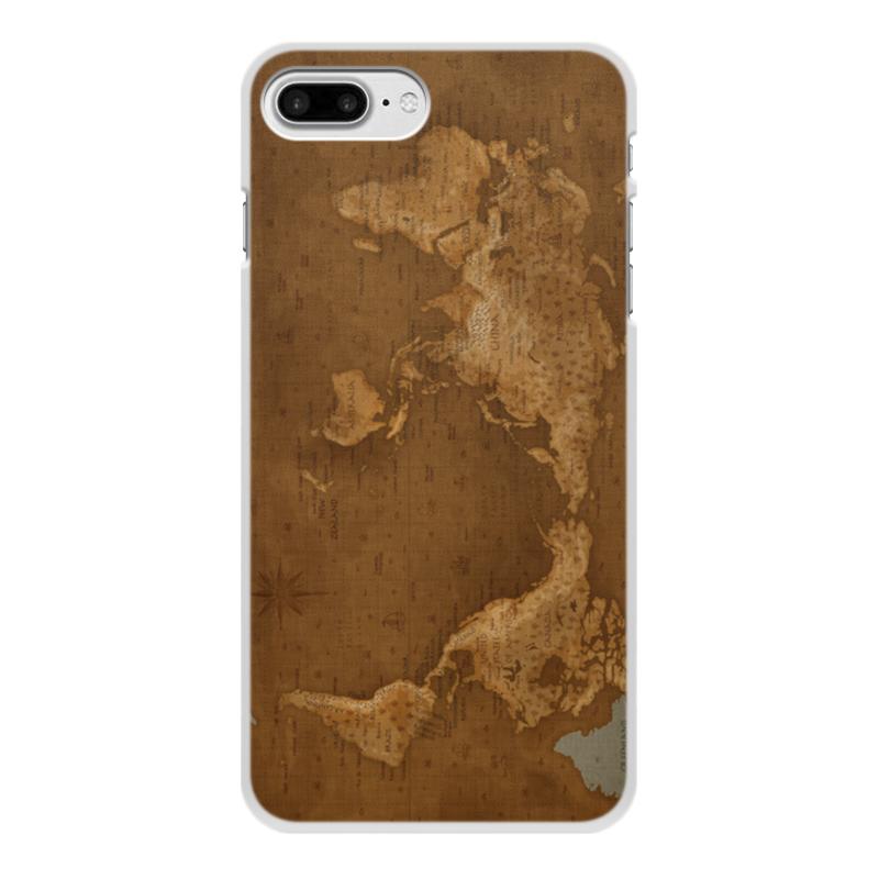 Фото - Чехол для iPhone 8 Plus, объёмная печать Printio Карта мира чехол для iphone 6 глянцевый printio карта мародеров
