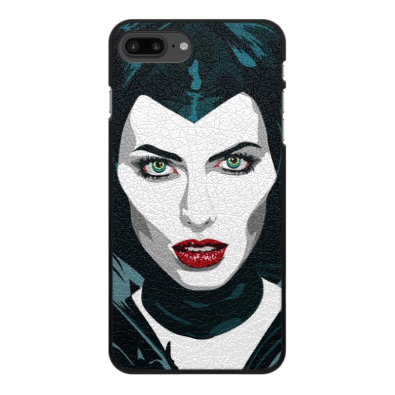 цена на Чехол для iPhone 8 Plus, объёмная печать Printio Maleficent (анджелина джоли)