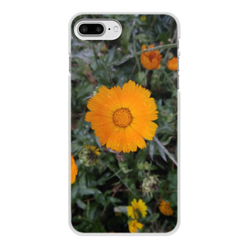 цена на Чехол для iPhone 8 Plus, объёмная печать Printio Летние цветы