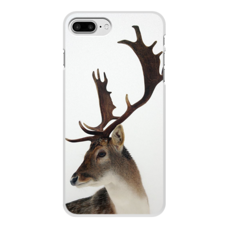 Чехол для iPhone 8 Plus, объёмная печать Printio Олень цена и фото