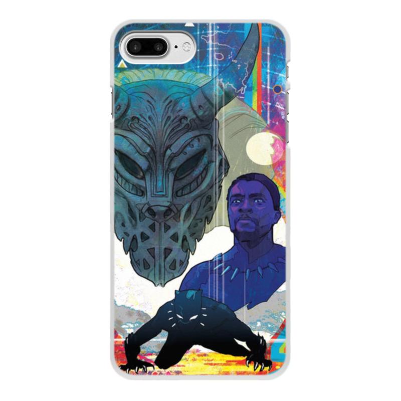Чехол для iPhone 8 Plus, объёмная печать Printio Черная пантера цена и фото