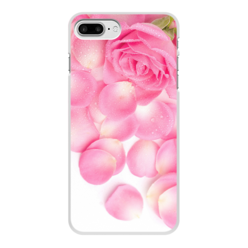 Фото - Чехол для iPhone 8 Plus, объёмная печать Printio Капли на лепестках розы чехол для iphone x объёмная печать printio лепестки розы