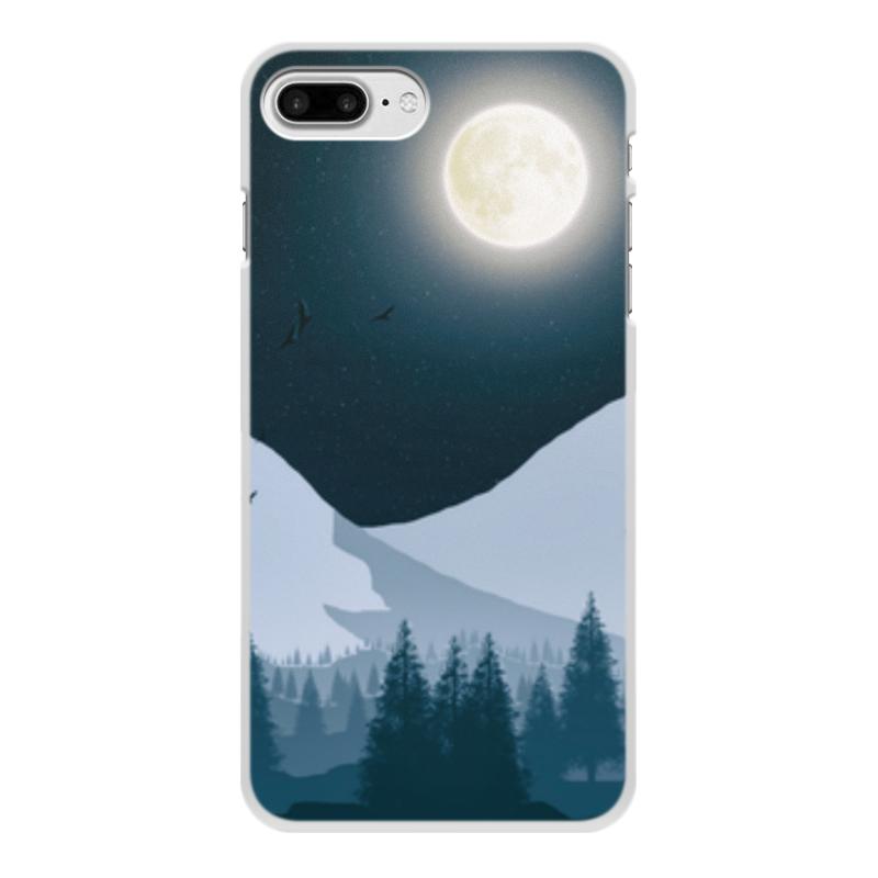 Чехол для iPhone 8 Plus, объёмная печать Printio Ночной лес