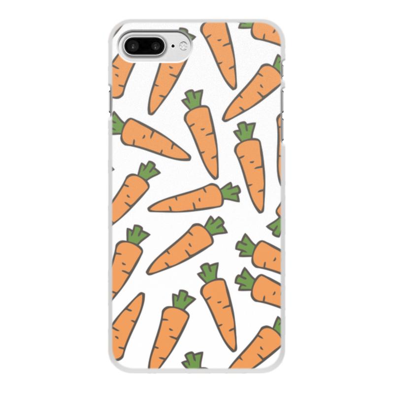 Чехол для iPhone 8 Plus, объёмная печать Printio Морковки цена и фото