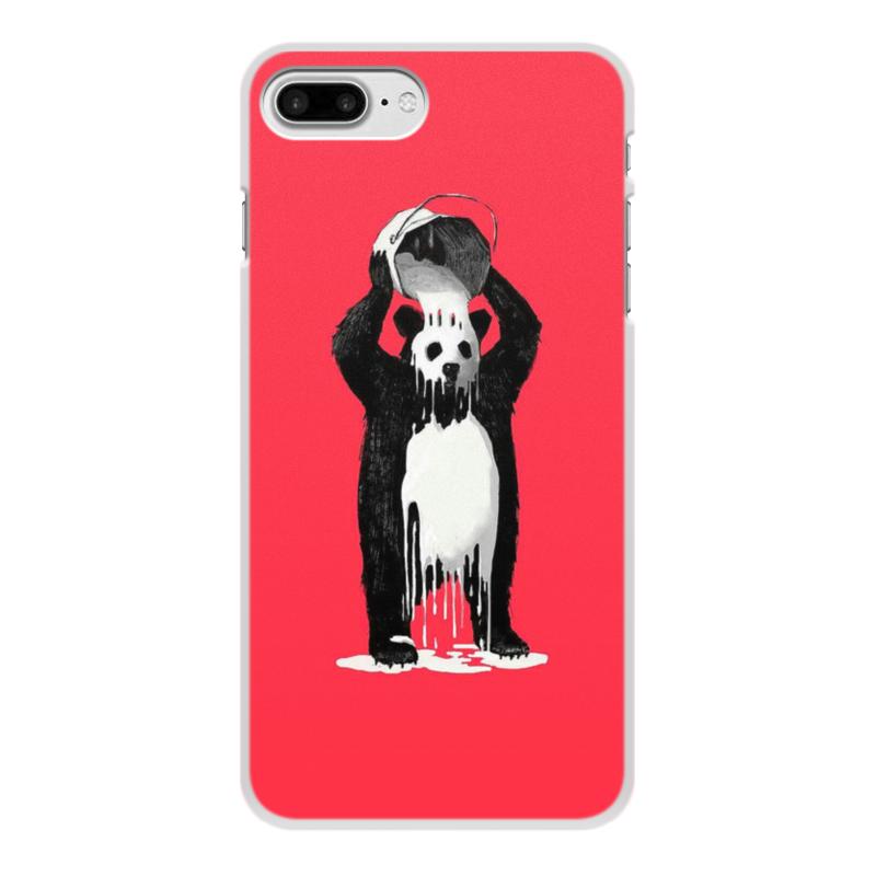 Чехол для iPhone 8 Plus, объёмная печать Printio Панда в краске чехол для iphone 7 plus объёмная печать printio панда