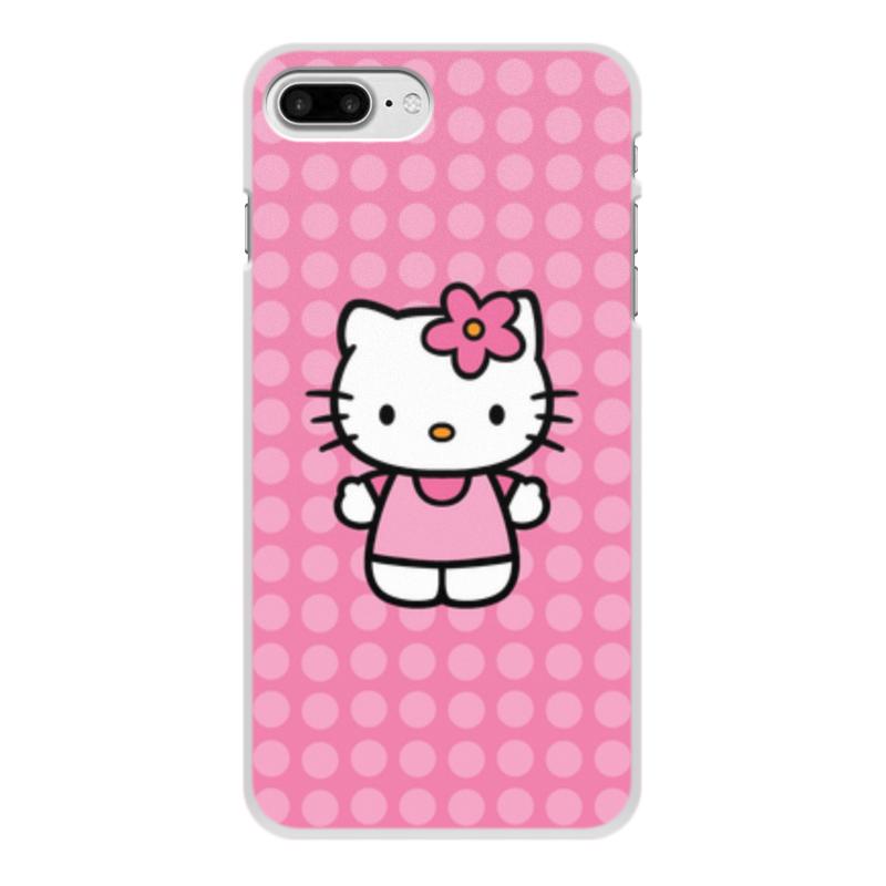 Чехол для iPhone 8 Plus, объёмная печать Printio Kitty в горошек цветочный дизайн кожа pu откидная крышка бумажника карты держатель чехол для iphone 7g