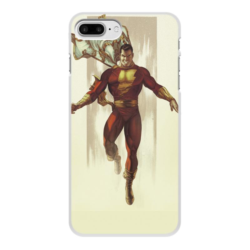 где купить Чехол для iPhone 8 Plus, объёмная печать Printio Shazam дешево