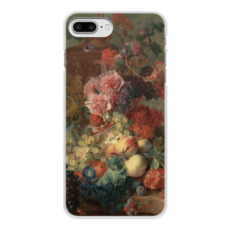 Чехол для iPhone 8 Plus, объёмная печать Printio Цветы (ян ван хёйсум) фартук с полной запечаткой printio цветы ян ван хёйсум