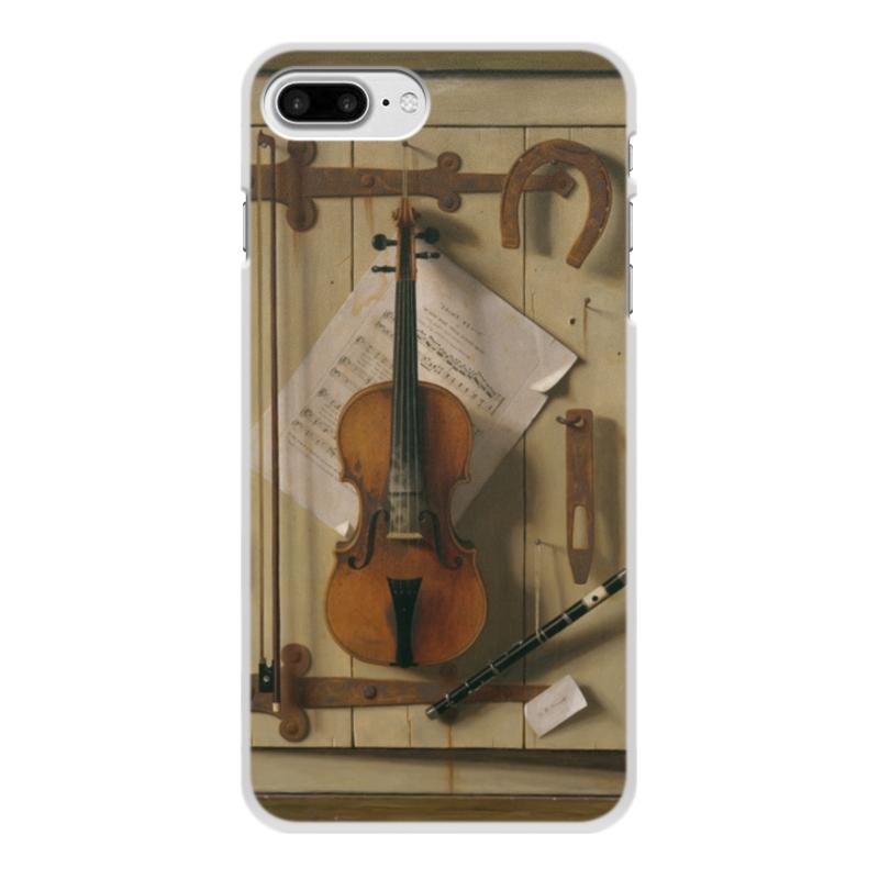 Чехол для iPhone 8 Plus, объёмная печать Printio Натюрморт со скрипкой (уильям харнетт)