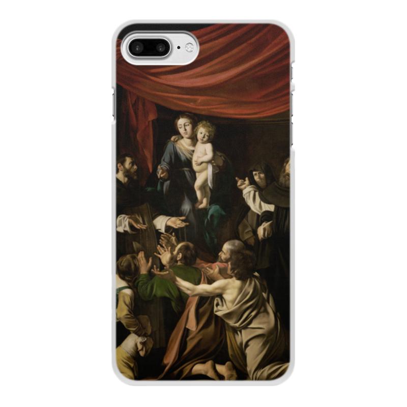 Чехол для iPhone 8 Plus, объёмная печать Printio Мадонна с чётками (караваджо) рюкзак с полной запечаткой printio мадонна с чётками караваджо