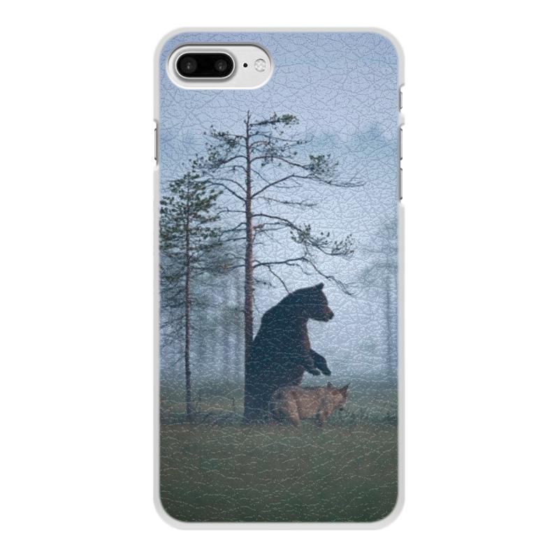 Чехол для iPhone 8 Plus, объёмная печать Printio Мишка и волк чехол для iphone 7 объёмная печать printio мишка и волк