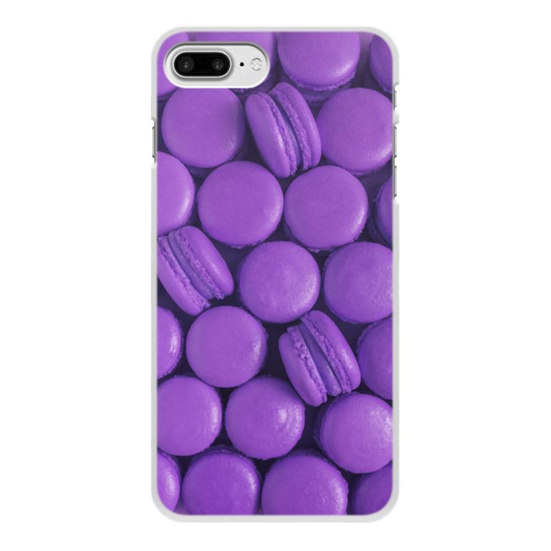 Чехол для iPhone 8 Plus, объёмная печать Printio Пирожные макаронс фиолетовые