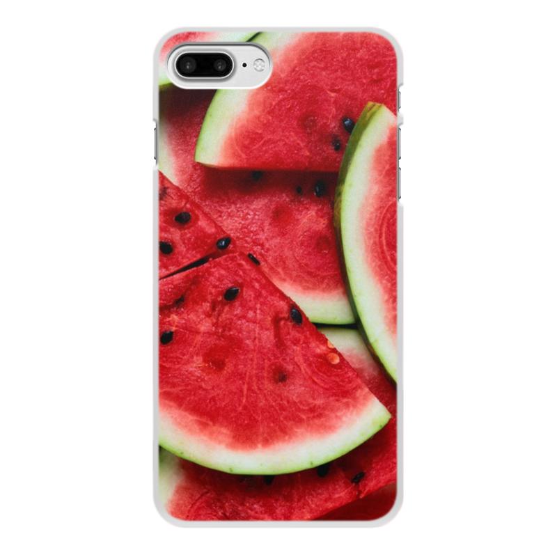 Чехол для iPhone 8 Plus, объёмная печать Printio Арбуз цена