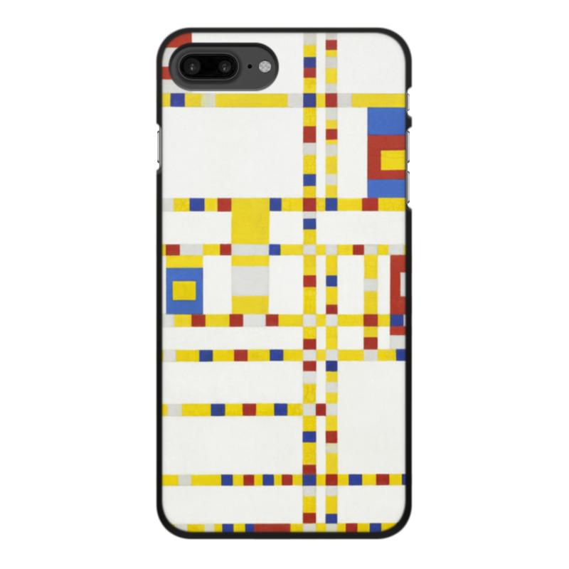 Чехол для iPhone 8 Plus, объёмная печать Printio Бродвей буги-вуги (питер мондриан) чехол для samsung galaxy s5 printio бродвей буги вуги питер мондриан