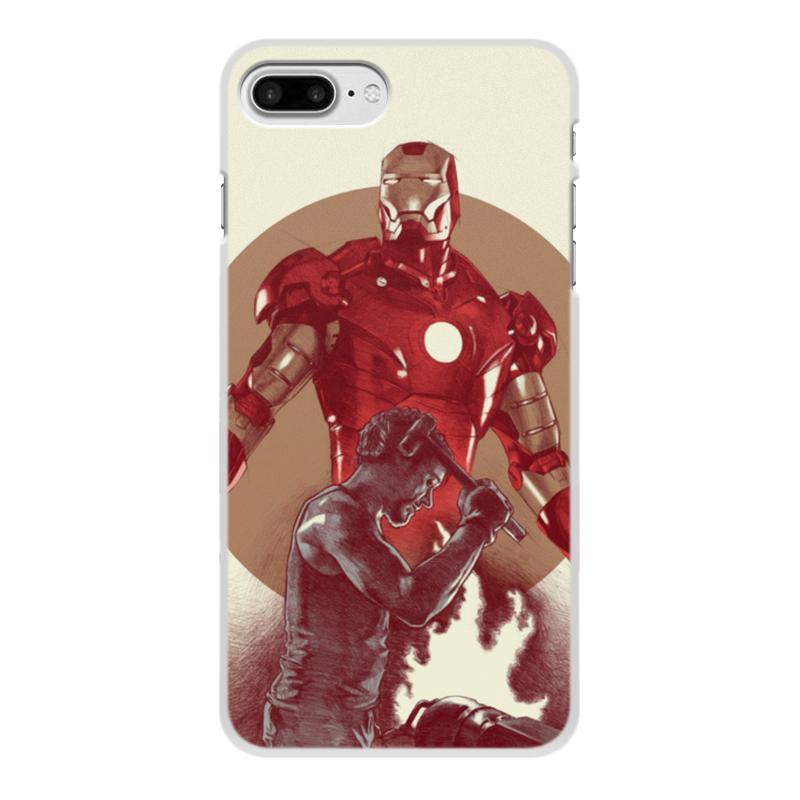 Чехол для iPhone 8 Plus, объёмная печать Printio Железный человек