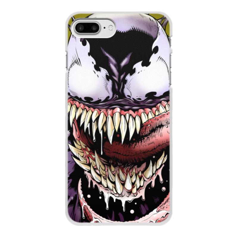 цена Чехол для iPhone 8 Plus, объёмная печать Printio Веном (venom)