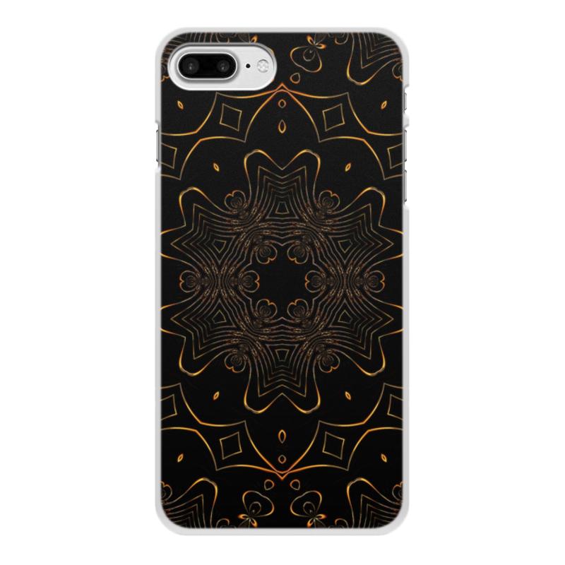 Чехол для iPhone 8 Plus, объёмная печать Printio Золотая вязь чехол для iphone 7 plus объёмная печать printio золотая роза