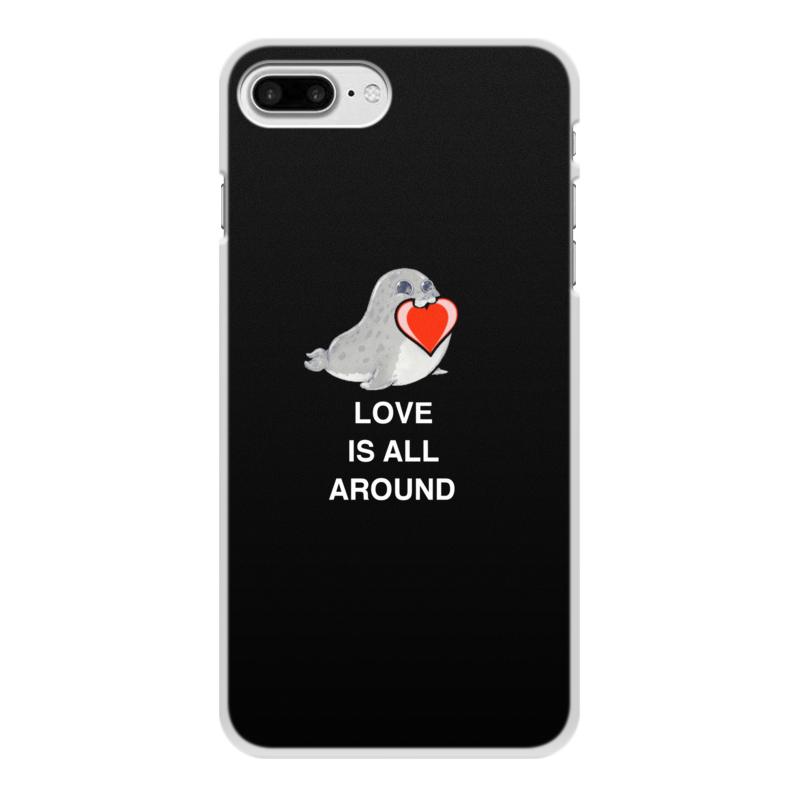 Чехол для iPhone 8 Plus, объёмная печать Printio Love. тюлень. любовь. чехол для iphone 4 глянцевый с полной запечаткой printio любовь наше сопротивление