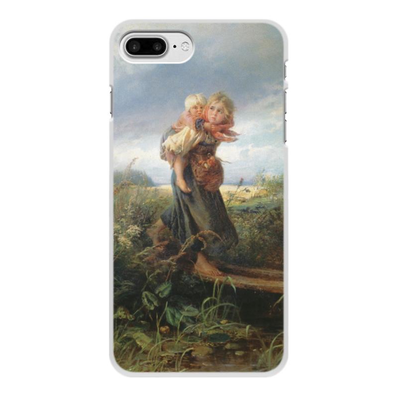 купить Чехол для iPhone 8 Plus, объёмная печать Printio Дети, бегущие от грозы (константин маковский) по цене 1100 рублей