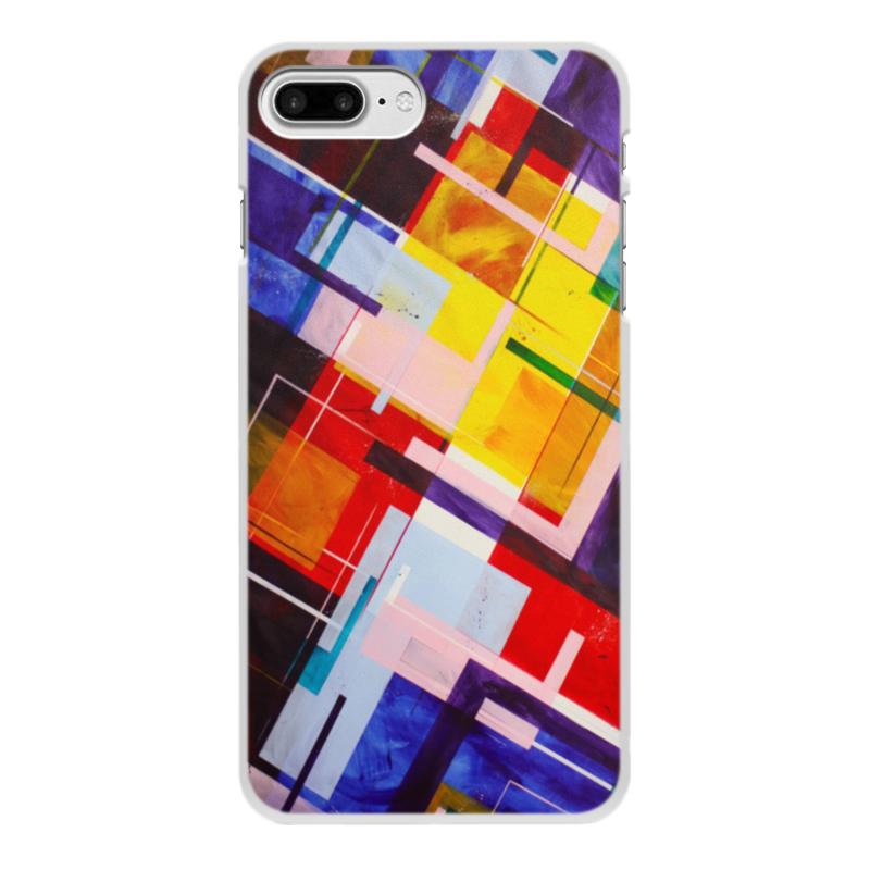 Чехол для iPhone 8 Plus, объёмная печать Printio Абстракция чехол для iphone 8 plus объёмная печать printio ландыши