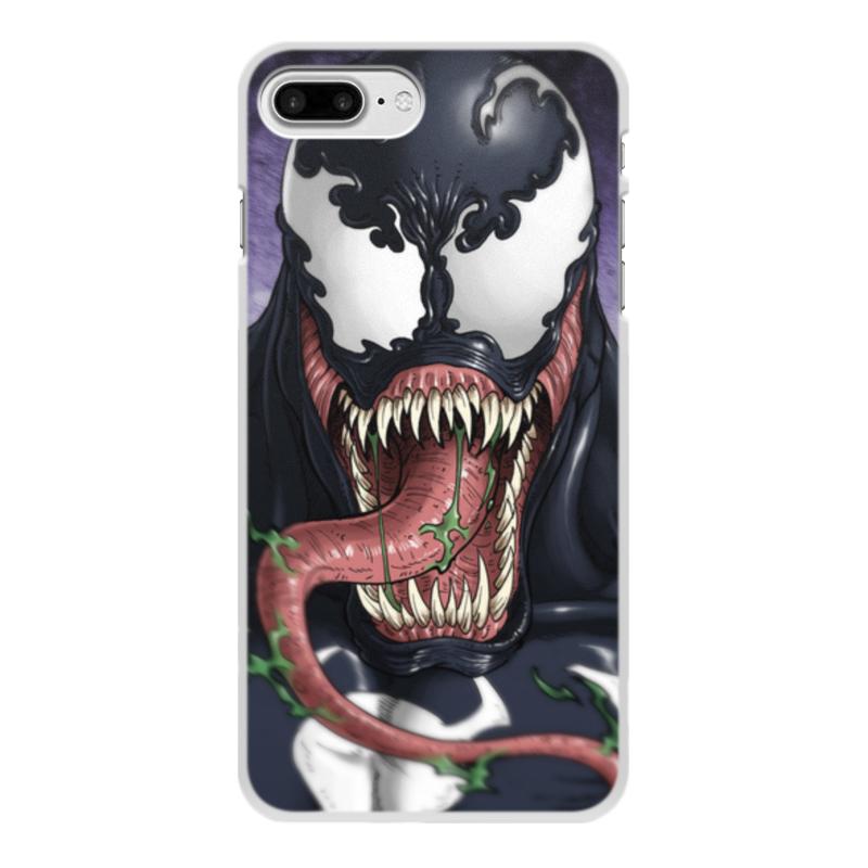 Фото - Чехол для iPhone 8 Plus, объёмная печать Printio Веном (venom) чехол для iphone 5 глянцевый с полной запечаткой printio deadpool vs punisher