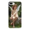 """Чехол для iPhone 8 Plus, объёмная печать """"Подстерегающая любовь (Вильям Бугро)"""" - картина, живопись, купидон, амур, бугро"""