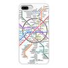 """Чехол для iPhone 8 Plus, объёмная печать """"Схема метро Москвы"""" - москва, карта, метро"""