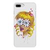 """Чехол для iPhone 8 Plus, объёмная печать """"Без ума от цветов"""" - любовь, девушка, цветы, сердца, блондинка"""