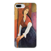 """Чехол для iPhone 8 Plus, объёмная печать """"Жанна Эбютерн (Амедео Модильяни)"""" - арт, картина, живопись, оно, модильяни"""