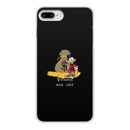 """Чехол для iPhone 8 Plus, объёмная печать """"Деньги не пахнут. Деньги. Скрудж Макдак. """" - цитаты, money, утиные истории, duck tales, скрудж макдак"""