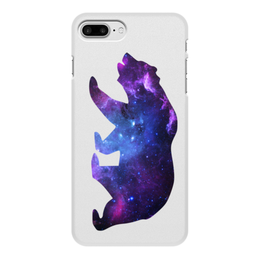 "Чехол для iPhone 8 Plus, объёмная печать ""Space animals"" - space, bear, медведь, космос, астрономия"