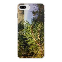 """Чехол для iPhone 8 Plus, объёмная печать """"Удивительный Алтай"""" - лето, summer, природа, озеро, алтай"""