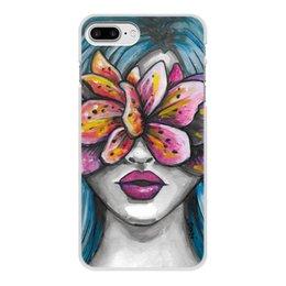 """Чехол для iPhone 8 Plus, объёмная печать """"Весна"""" - праздник, любовь, девушка, цветы, весна"""