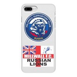 "Чехол для iPhone 8 Plus, объёмная печать ""Millwall MSC Russia phone cover"" - millwall, millwallfc, миллуолл, russian lions"
