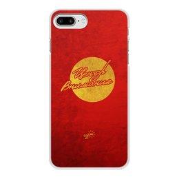 """Чехол для iPhone 8 Plus, объёмная печать """"Центр Внимания - Ego Sun"""" - золото, солнце, леттеринг, эго, престиж"""