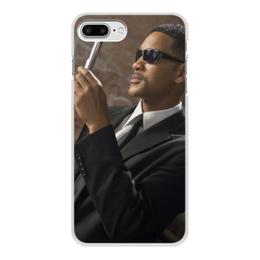 """Чехол для iPhone 8 Plus, объёмная печать """"Вспышка - Стирание памяти"""" - уилл смит, люди в черном, вспышка, men in black, стирание памяти"""