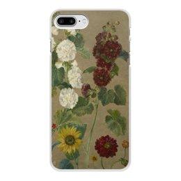 """Чехол для iPhone 8 Plus, объёмная печать """"Цветы (картина Эжена Делакруа)"""" - цветы, картина, живопись, делакруа, романтизм"""