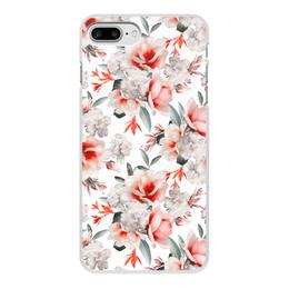 """Чехол для iPhone 8 Plus, объёмная печать """"Цветы"""" - цветы"""