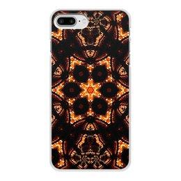 """Чехол для iPhone 8 Plus, объёмная печать """"Голос Огня"""" - огонь, подарок, абстракция, мандала, фрактал"""