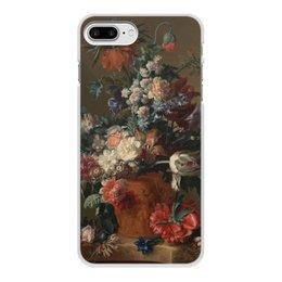 "Чехол для iPhone 8 Plus, объёмная печать ""Ваза с цветами (Ян ван Хёйсум)"" - цветы, картина, живопись, натюрморт, ян ван хёйсум"