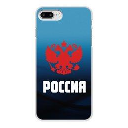 """Чехол для iPhone 8 Plus, объёмная печать """"Россия"""" - россия, герб, russia, орел, флаг"""