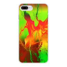 "Чехол для iPhone 8 Plus, объёмная печать ""Пятна краски"" - узор, космос, пятна, краски, абстракция"
