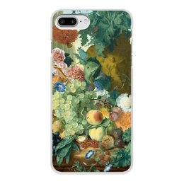 "Чехол для iPhone 8 Plus, объёмная печать ""Фрукты и цветы (Ян ван Хёйсум)"" - цветы, картина, живопись, натюрморт, ян ван хёйсум"