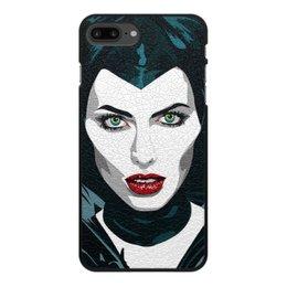 """Чехол для iPhone 8 Plus, объёмная печать """"Maleficent (Анджелина Джоли)"""" - кино, сказка, анджелина джоли, малефисента, снежная королева"""