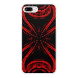 """Чехол для iPhone 8 Plus, объёмная печать """"Красная Ртуть"""" - подарок, абстракция, digital art, спектр, красное на черном"""